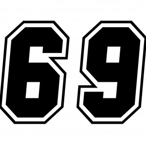4x Race Numbers Car/Van/Window Decal Sticker