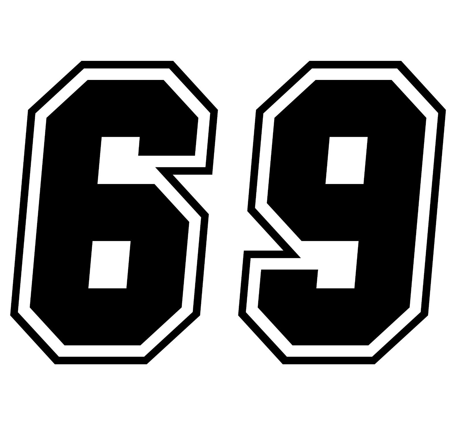 Race numbers car van window decal sticker for Window number