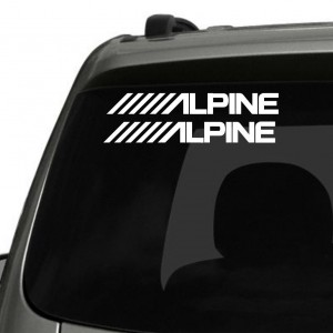 2x Alpine Logo Car/Van/Window Decal Sticker