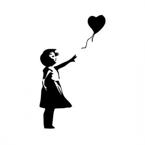 Banksy Theres Always Hope Car/Van/Window Decal Sticker