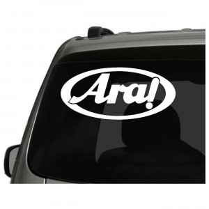 2x Aral Surf Logo Car/Van/Window Decal Sticker