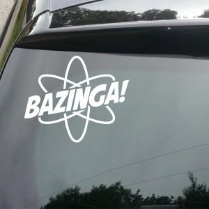 Bazinga Car/Van/Window Decal Sticker