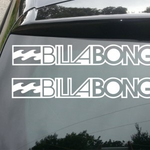 2x Billabong Surf Logo Car/Van/Window Decal Sticker