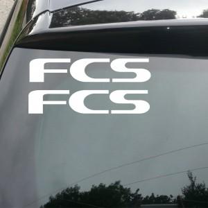2x FCS Logo Car/Van/Window Decal Sticker