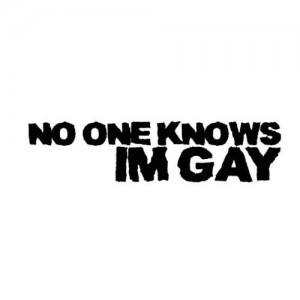 'No One Knows I'm Gay' Car/Van/Window Decal Sticker
