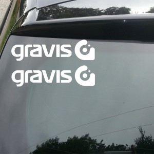 2x Gravis Logo Car/Van/Window Decal Sticker