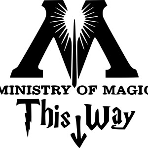 Harry Potter 'This way in to the Ministry of Magic' Car/Van/Window Decal Sticker