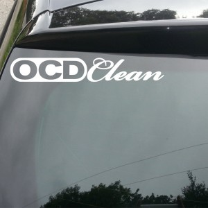 'OCD Clean' Car/Van/Window Decal Sticker