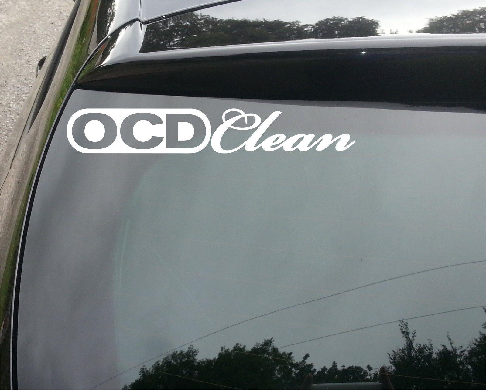 Ocd clean car van window decal sticker