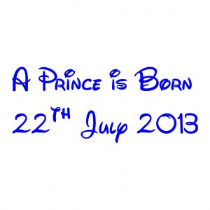 'A Prince Is Born' Car/Van/Window Decal Sticker