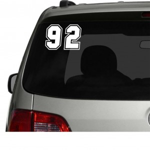 2x Race Numbers Car/Van/Window Decal Sticker