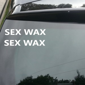 2x Sex Wax Car/Van/Window Decal Sticker