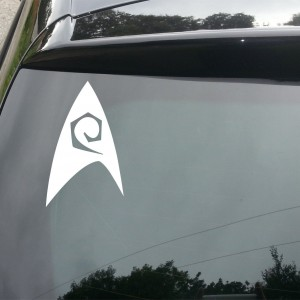 Star Trek Insignia Car/Van/Window Decal Sticker