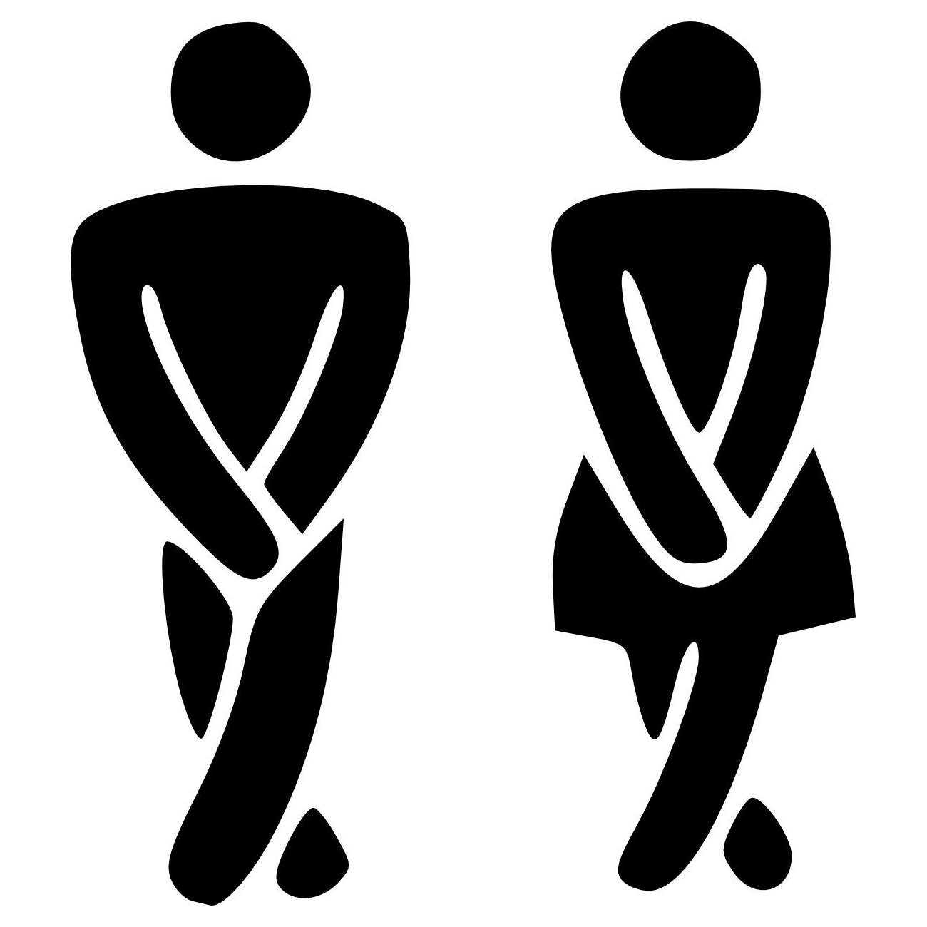 Small Restroom Restrooms Funny Toilet Entrance Decal Sticker