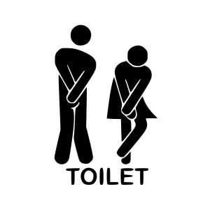 Restrooms Funny Toilet Entrance Decal Sticker For Shop Office Home Cafe Hotel