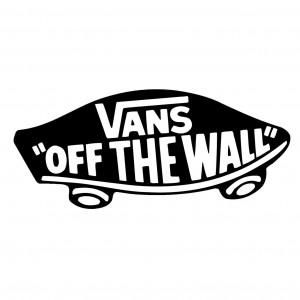 2x Vans 'Off The Wall' Logo Car/Van/Window Decal Sticker