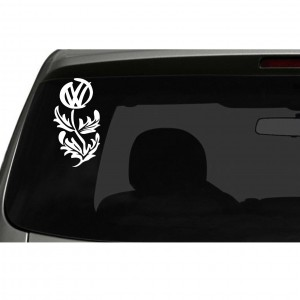VW Flower Car/Van/Window Decal Sticker